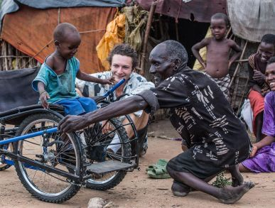A wheelchair made for African people: http://ift.tt/2hi3NWO