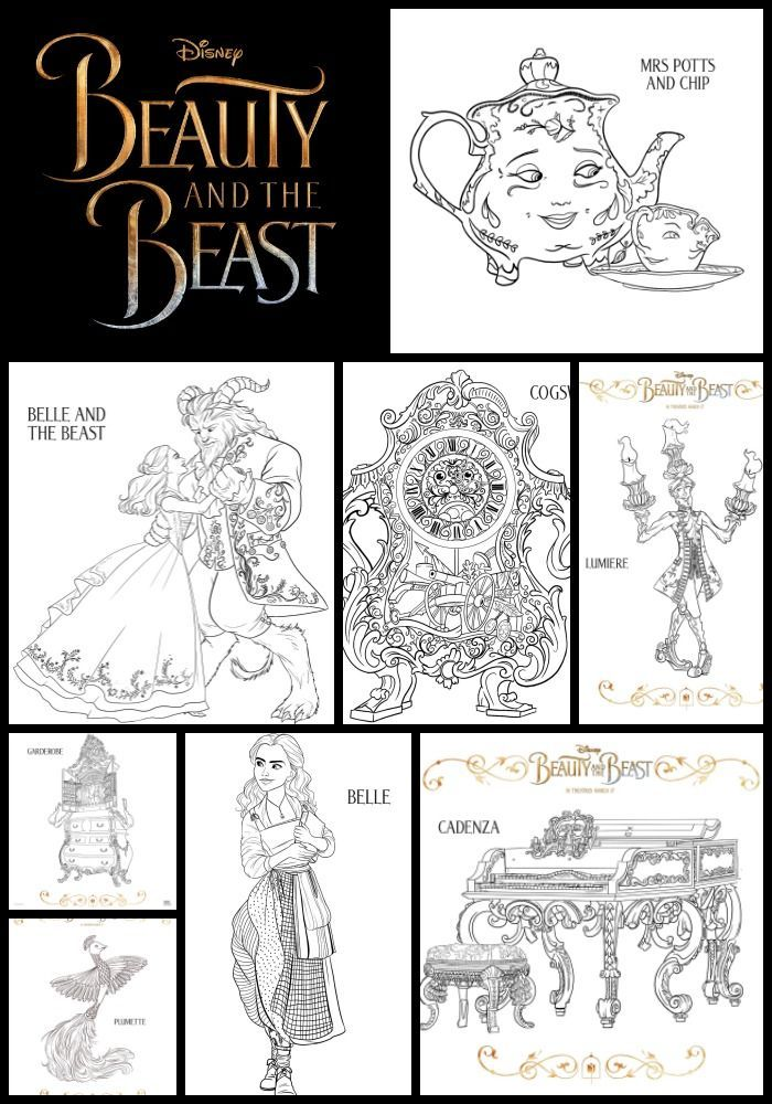 Free Beauty And The Beast Printable Kids Activity Sheets Coloring Pages