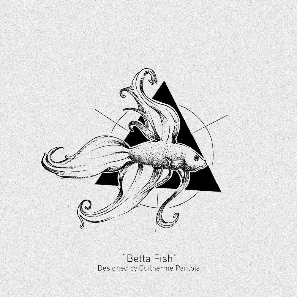 Betta Fish With Geometry Tattoo Design Circle Drawing Geometry Tattoo Betta Fish