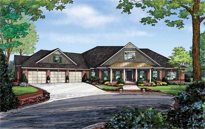 The Delaware B Ranch House Plans House Plans One Story Custom Home Plans