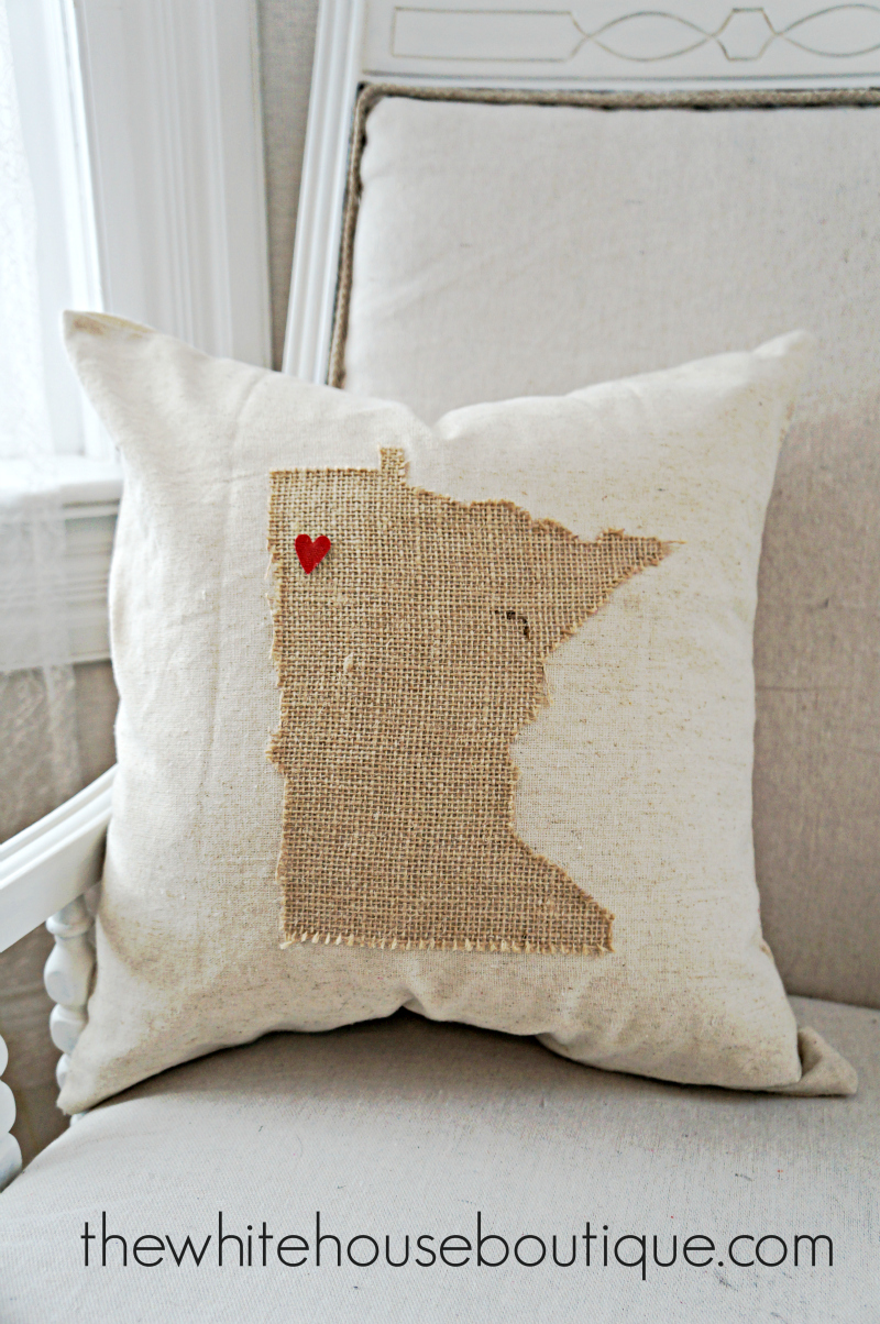 No Sew State Pillow {DIY} | Stuff to Make | Pinterest | Pillows ...