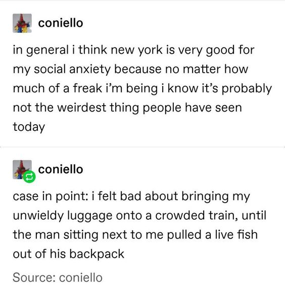 New York could be anything.