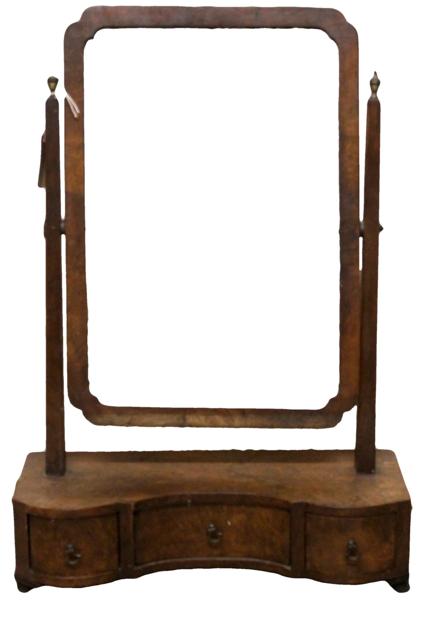 Antique victorian dressing table mirror front dressing
