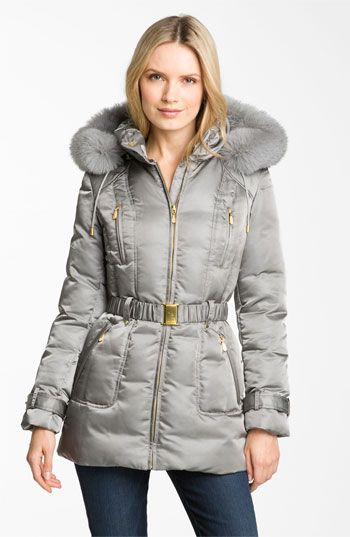 1 Madison Genuine Fox Fur Trim Down Jacket | Nordstrom