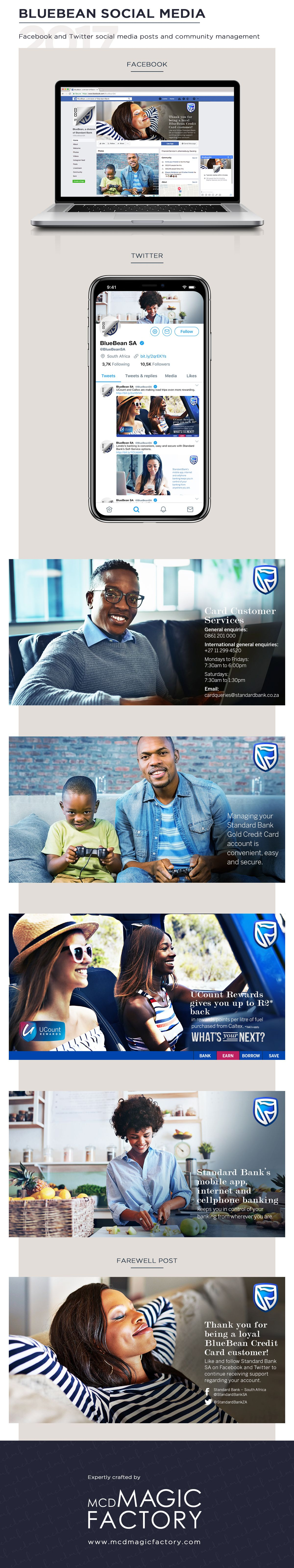 Client standard bank bluebean credit card year 2017