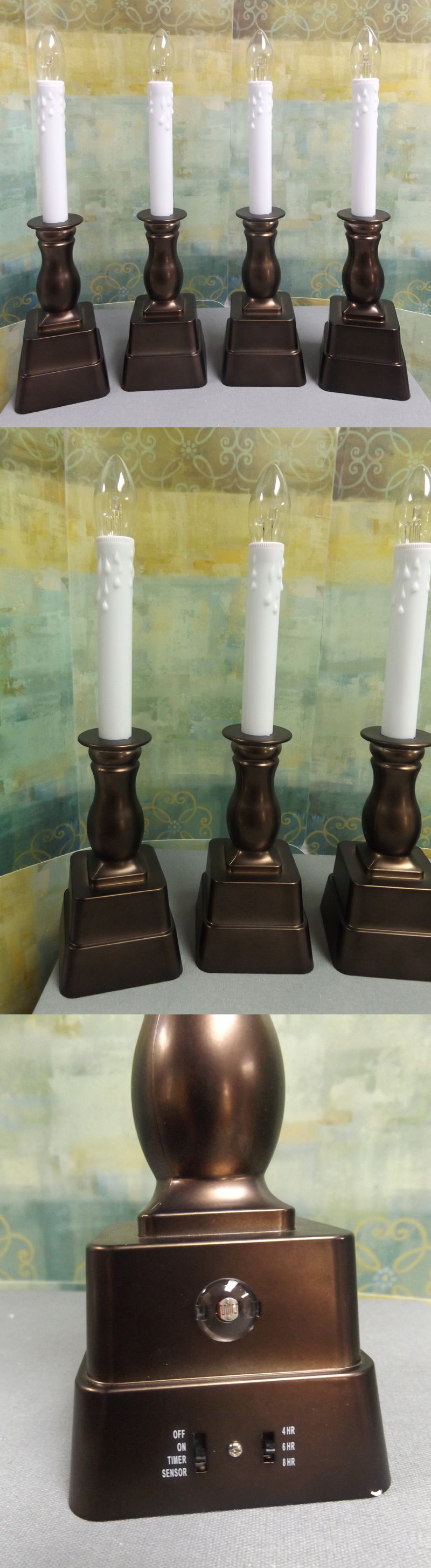 Bethlehem lights window candles with timer - Candles And Candle Accessories 168138 New Bethlehem Lights Set Of 4 Battery Op Window