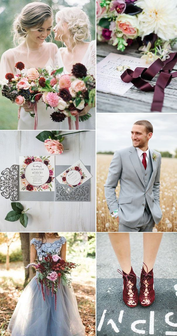 5 Most Stunning Wedding Colors With Matching Invitations