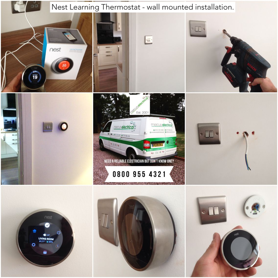 I wall mounted my Nest Learning Thermostat because I didn