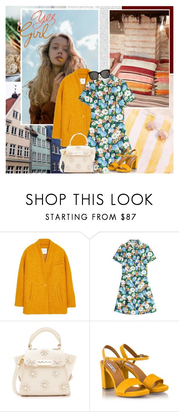 """Yes Girl"" by africagirls ❤ liked on Polyvore featuring Oris, MANGO, Carven, ZAC Zac Posen, Fratelli Karida and Gentle Monster"