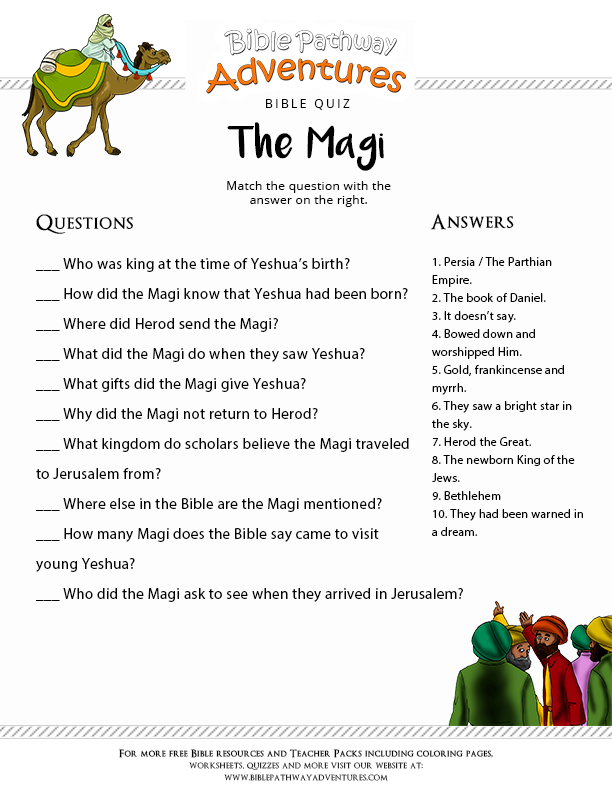 Charmant Enjoy Our Free Printable Bible Quiz: Magi   Wise Men. Fun For Kids To