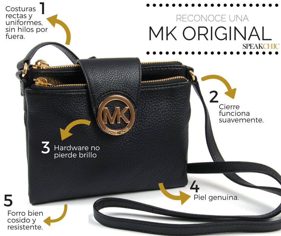 Cómo reconocer una bolsa MK original. Encuentra tu favorita aquí   www.speakchic.mx ((Infografía, bolsa, bolso, MK, Michael Kors, original,  genuina, ... 7ac92ac683