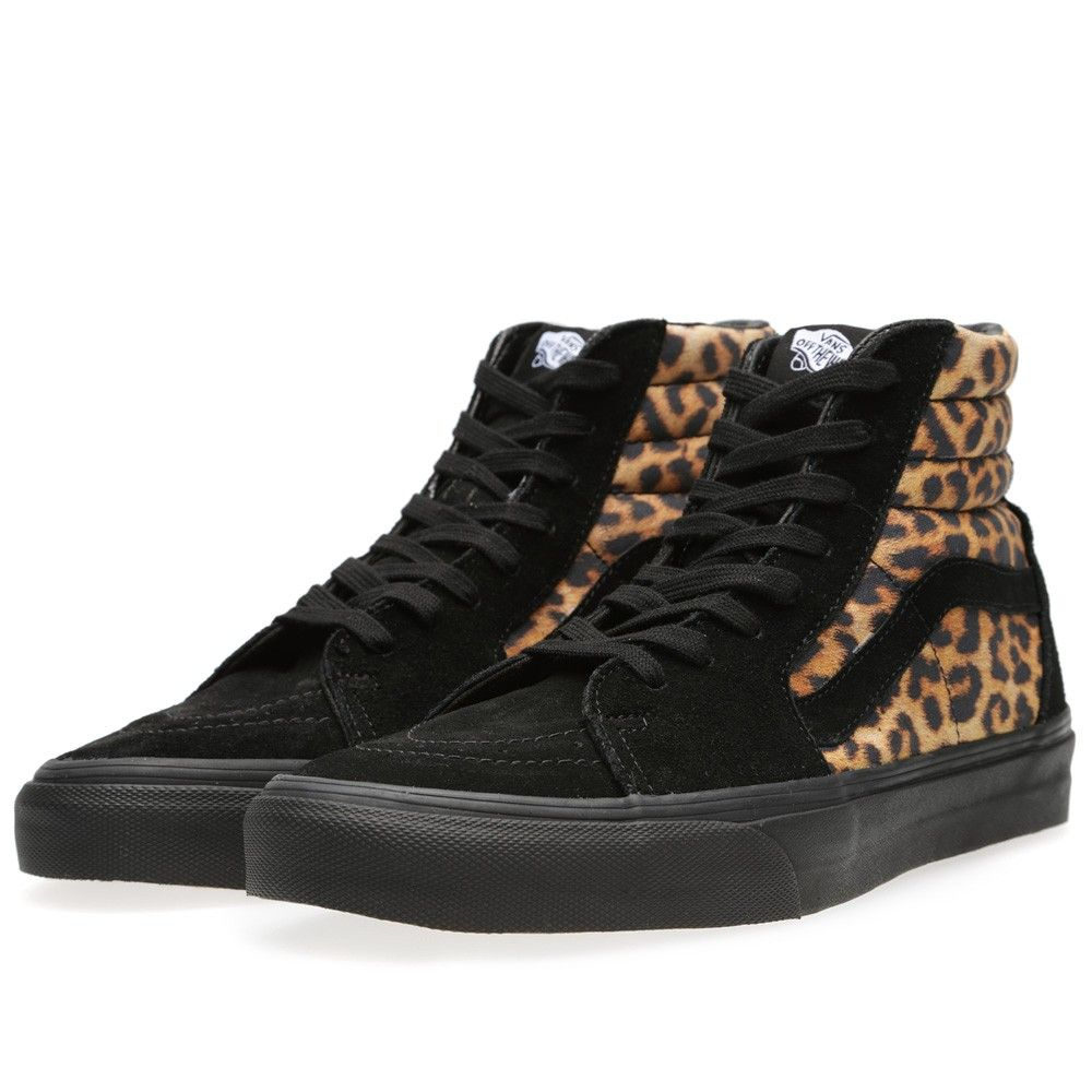 Vans Sk8-Hi Leopard (Black)   Vans sk8
