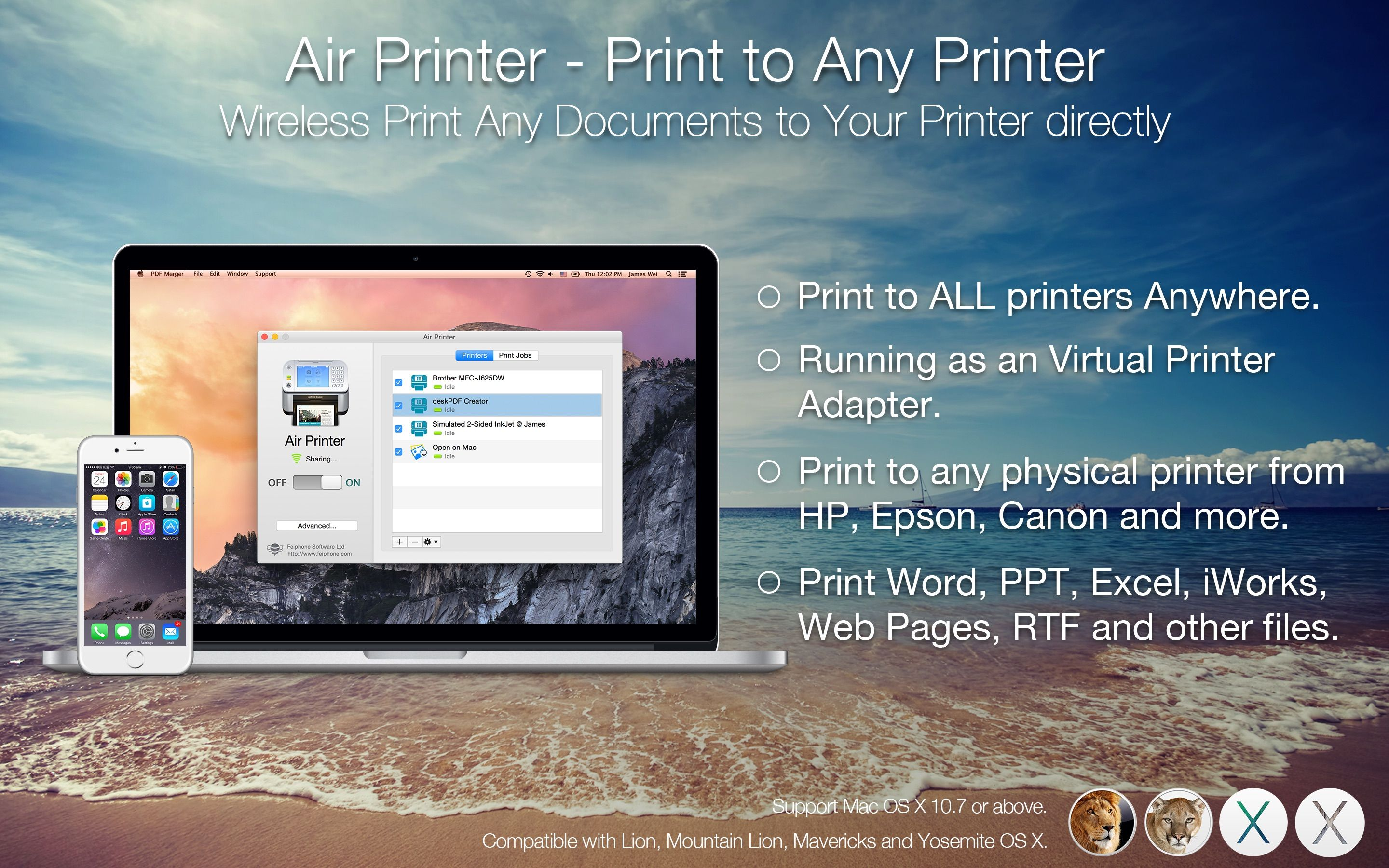 Download Air Printer by feiphone on the Mac App Store from