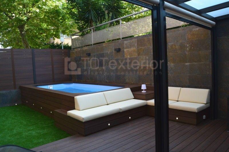 Proyectos dise o terrazas barcelona totexterior for Diseno de patios con piscina