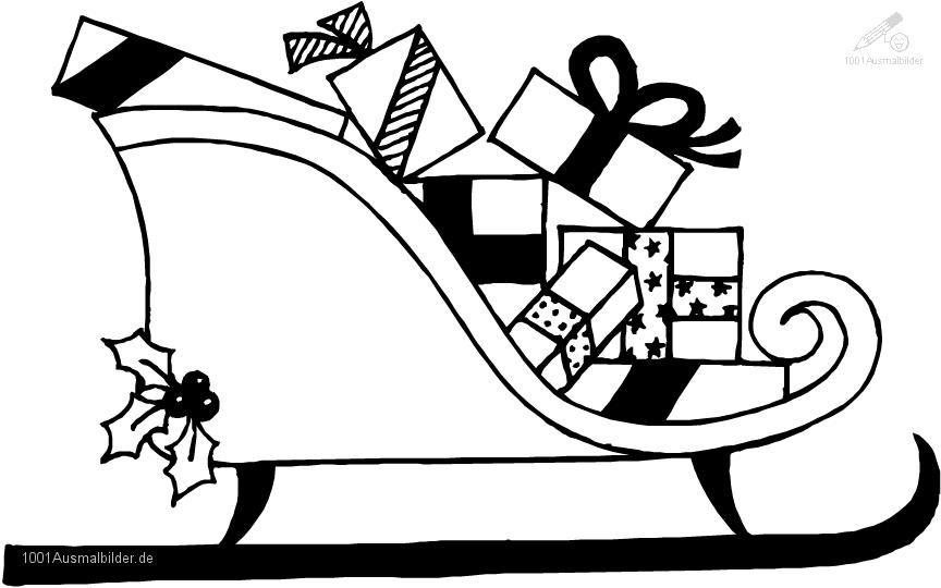 Weihnachten >> Schlitten >> Ausmalbild WeihnachtsSchlitte ...