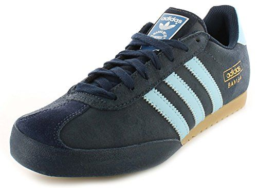 newest fe6c6 a6c1b Adidas Bamba Navy Textile Leather Indoor Soccer Shoes Trainers – Navy Blue  – UK SIZE 9