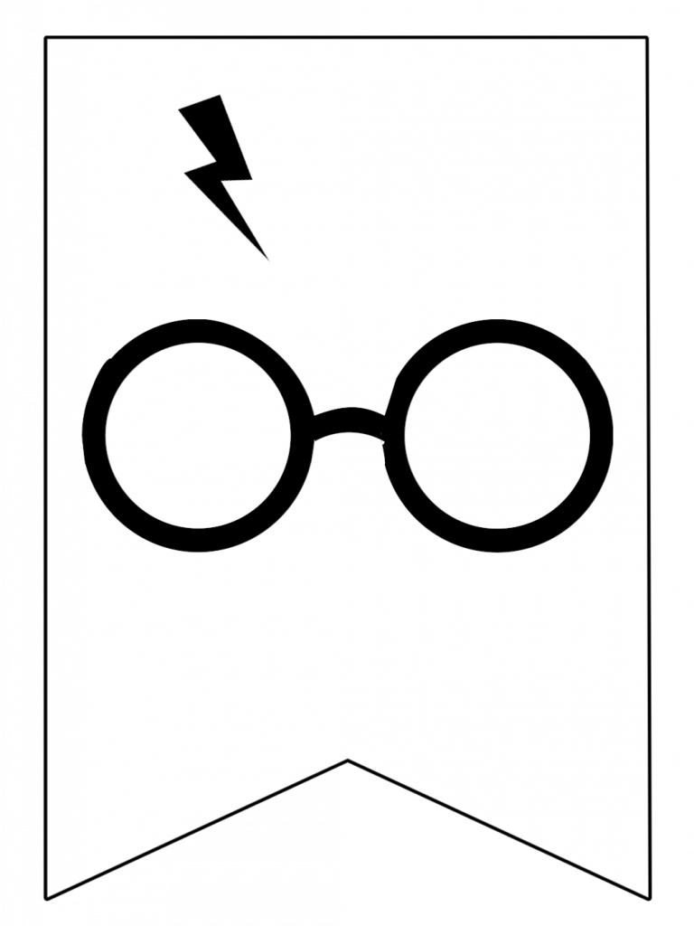 image relating to Harry Potter Glasses Printable known as Harry Potter Banner Totally free Printable Decor Harry Potter