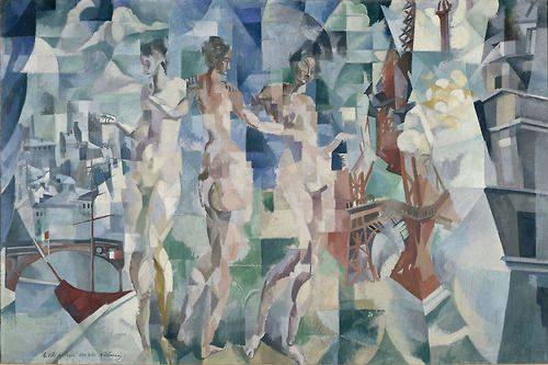 Here's a fun tidbit to keep in mind as you visit 'Visions of Arcadia' in its final week: this is the first time that the largest painting in the exhibition, Delaunay's monumental 'City of Paris', is being shown in America. It had come over in 1913 for the New York Armory Show, but was rejected at the last minute and never hung. Delaunay, as you may imagine, was livid, but we hope he'd be proud that it is now being shown to much acclaim in Philadelphia 100 yea