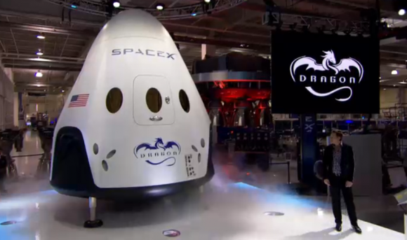 Elon Musk Premiers Spacex Manned Dragon V2 Astronaut Transporter 1st Photos Spacex Spacex Dragon Space Exploration