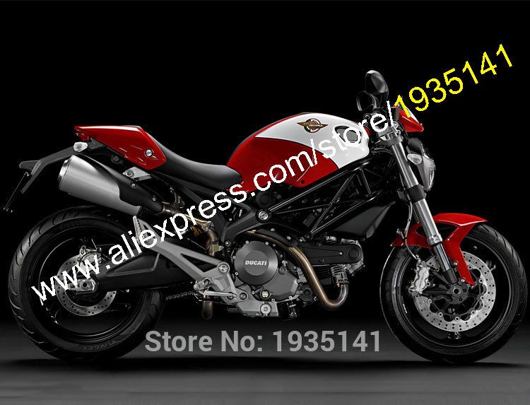 Hot Sales For Ducati 696 796 795 2009 2010 2011 2012 2013 M1000 M1100 Red White Aftermarket Abs Fairing Ki Ducati Monster Monster Motorcycle Ducati Motorcycles