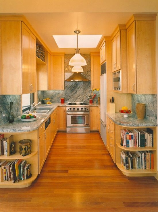 i'd like to open up the ends of my kitchen like this. Galley Kitchen Open Shelving Galley Kitchen Designs Ideas on white galley kitchen design ideas, stove kitchen design ideas, open galley kitchen remodel, walk in closet design ideas,