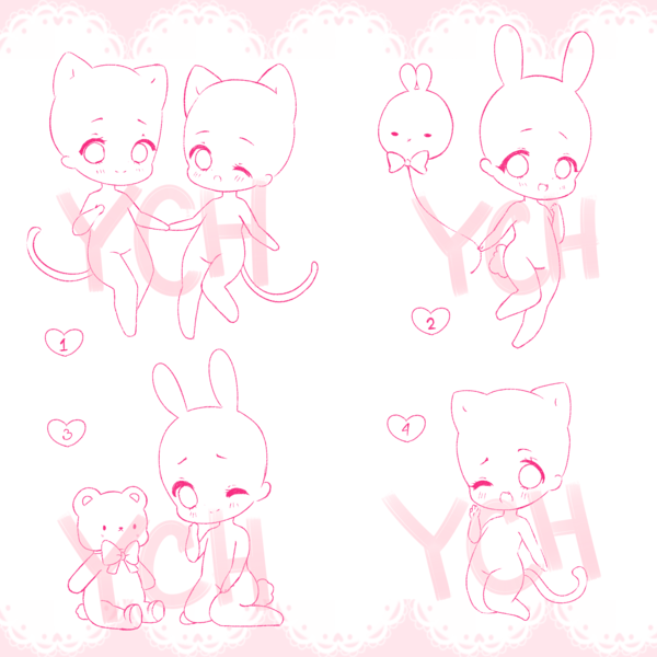 [Closed ] YCH Chibis by Miercy Chibi drawings, Chibi