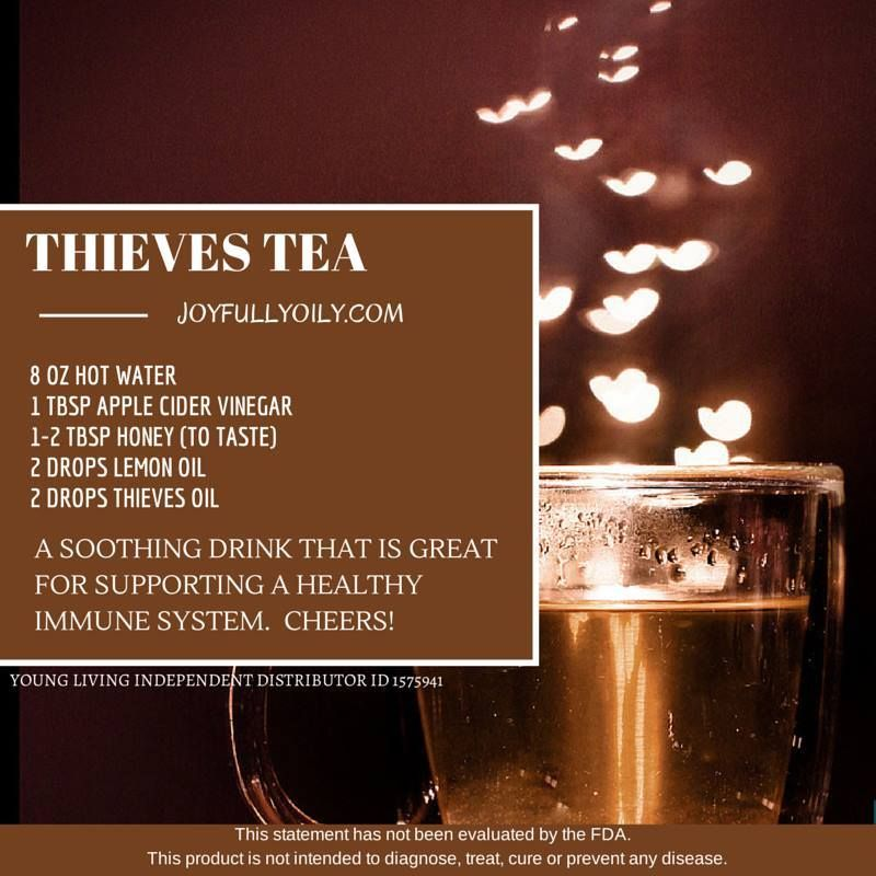 #Thieves tea is amazing - benefical and yummy! Enroll with a Premium Kit and I will bless you with a FREE book!