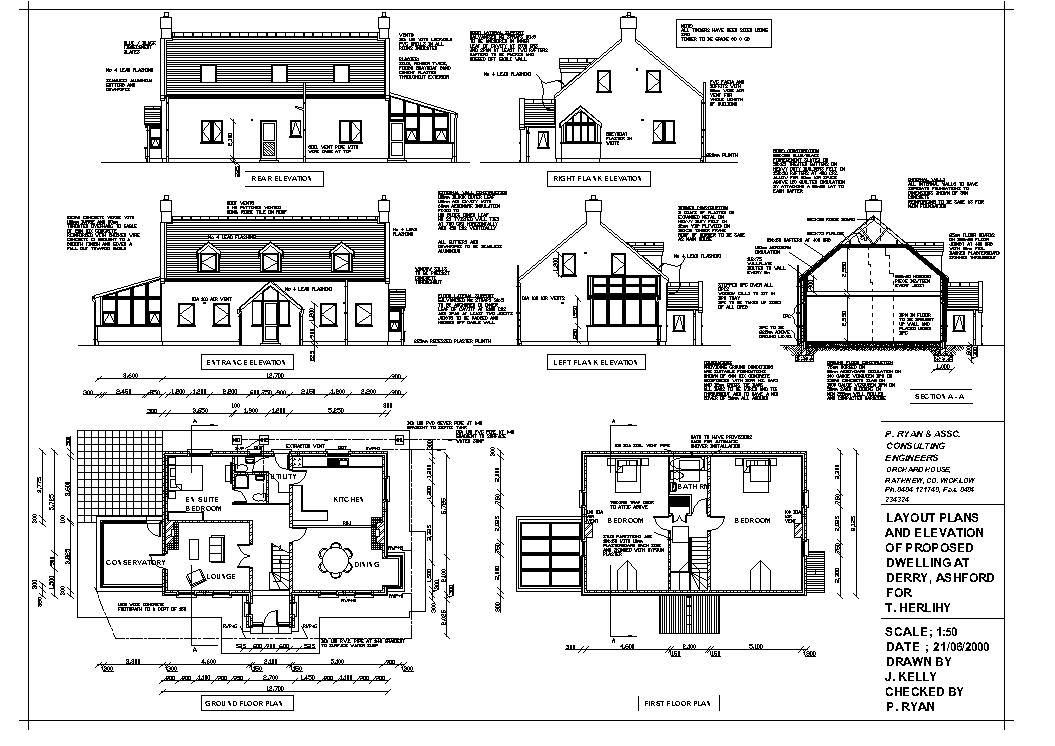 Construction Drawings Drawing house plans, House sketch