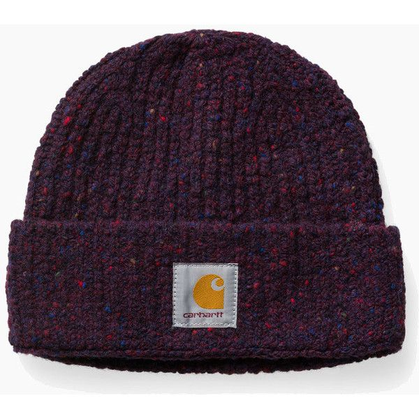 47321f736b8ed Carhartt Anglistic Beanie Hat - Burnt Umber Heather (60 AUD) ❤ liked on  Polyvore