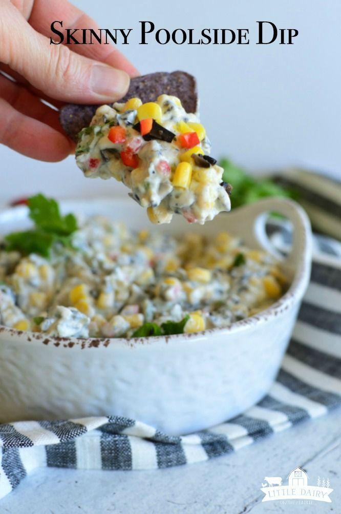 Skinny Poolside Dip - Little Dairy On the Prairie Skinny Poolside Dip one of those appetizers you a