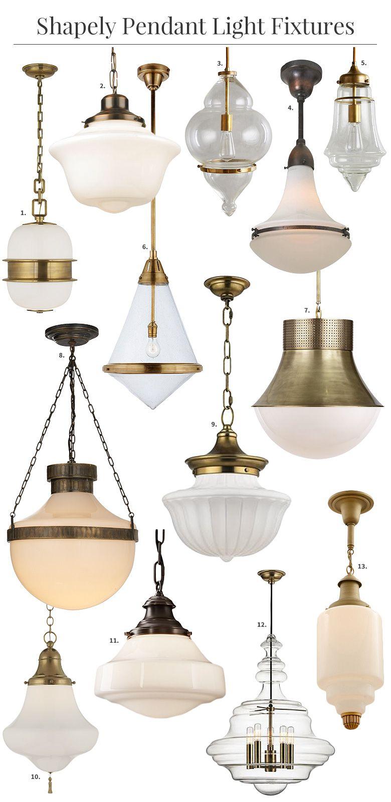 Shapely Glass Pendant Light Fixtures Glass Pendant Light Light