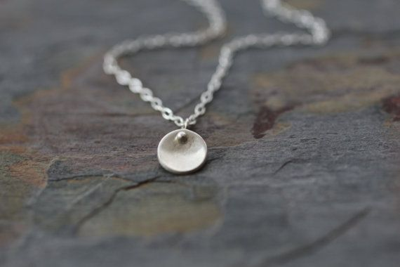 tiny necklace small disc necklace delicate by greygoosegifts