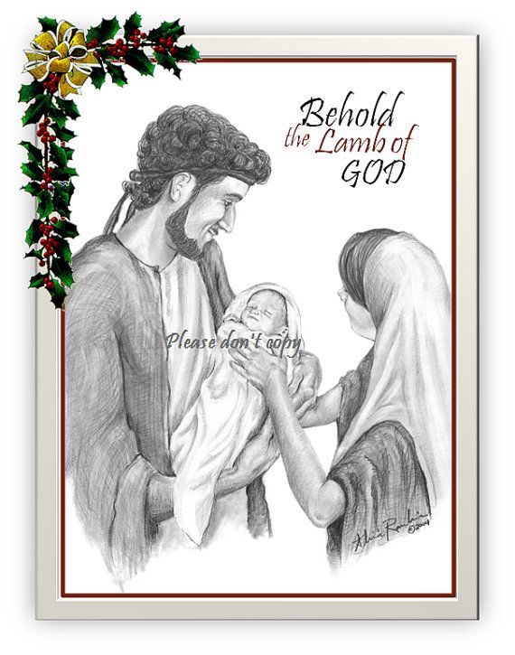 Set of 8 christmas cards customize free christ is the reason pencil sketch blank inside