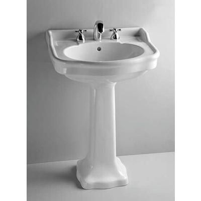 VITRA   Aria By Vitra: Pedestal Lavatory Sink And Leg Set, 4 Inch Centre,  White   20 6155   Home Depot Canada