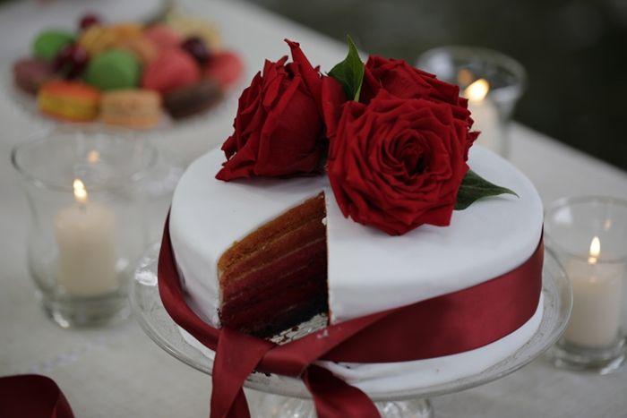 Shooting du0027inspiration un mariage bucolique en rouge et blanc