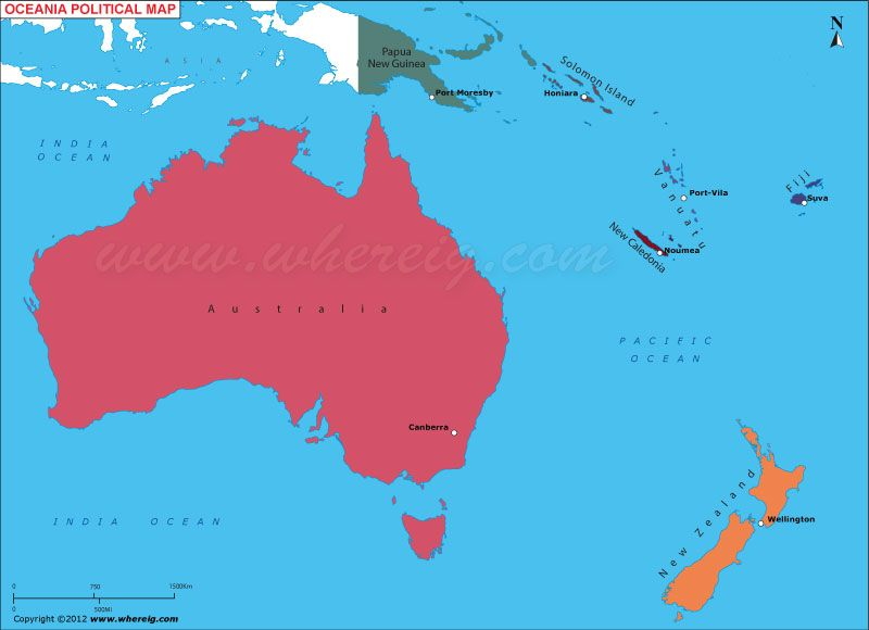 Australia Oceania Map | Maps | Australia map, Map, Australia