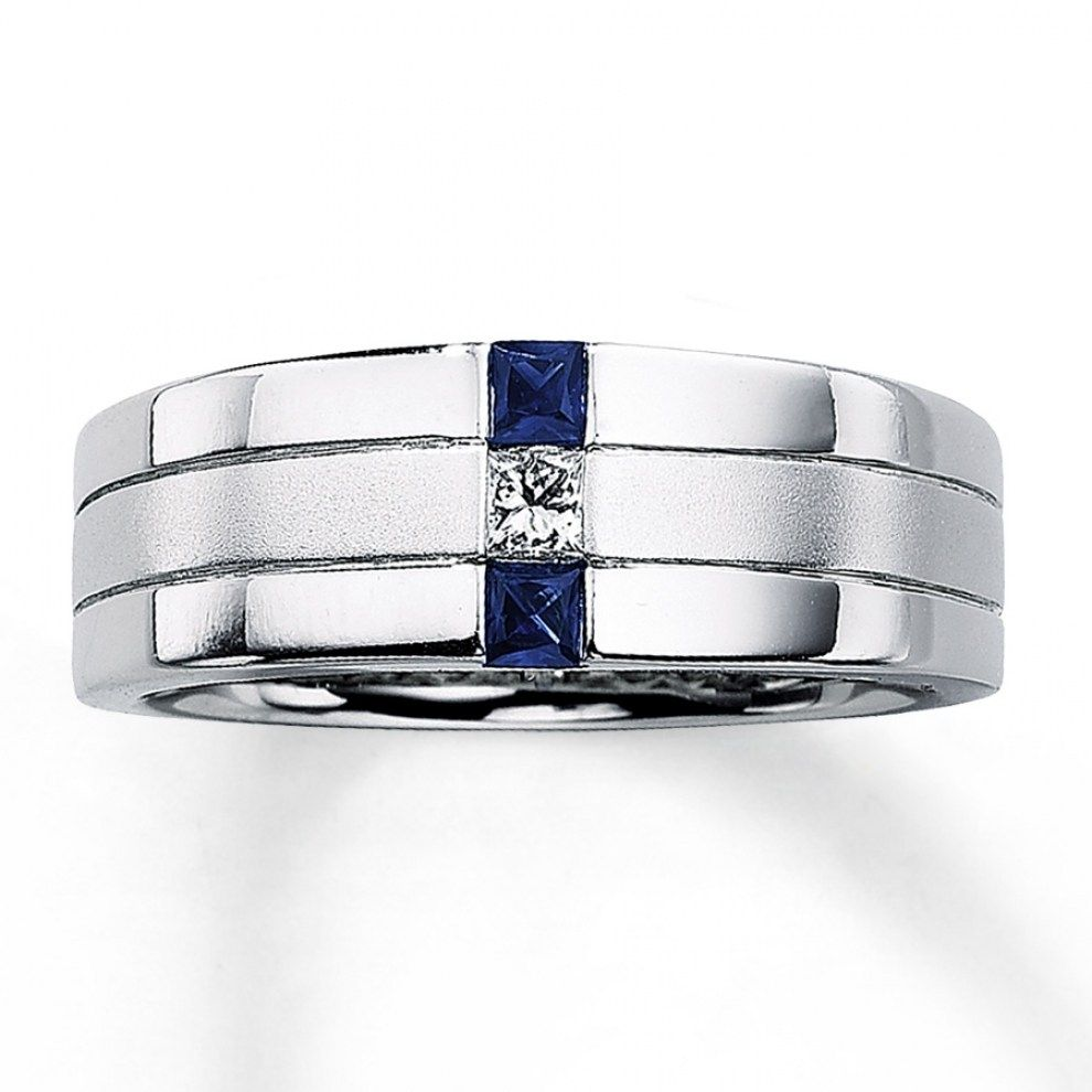 It is just a picture of 43 Stunning Mens Wedding Rings With Blue Sapphire - Best