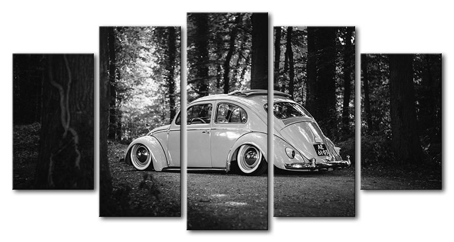 Volkswagen Vw Beetle Bug Car Canvas Wall Art Picture 5 Pieces Framed Unframed Cars Canvas Wall Art Customized Canvas Art Bug Car
