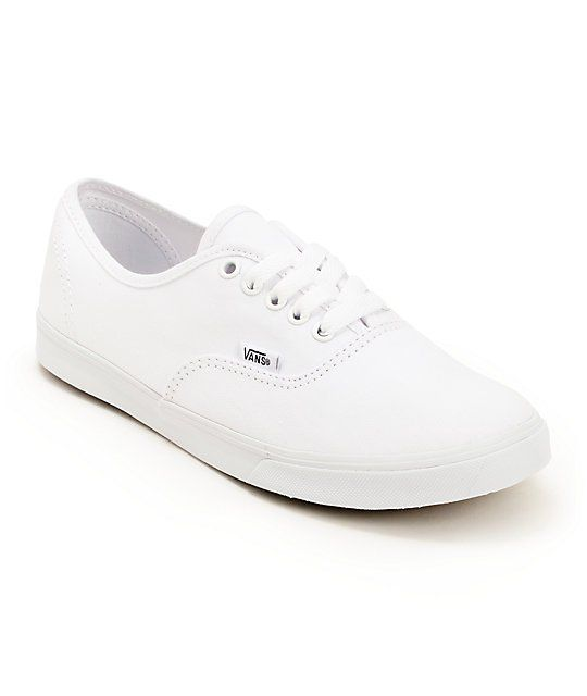 9c03cd80da9b04 Vans Authentic Lo Pro in the all white colorway.