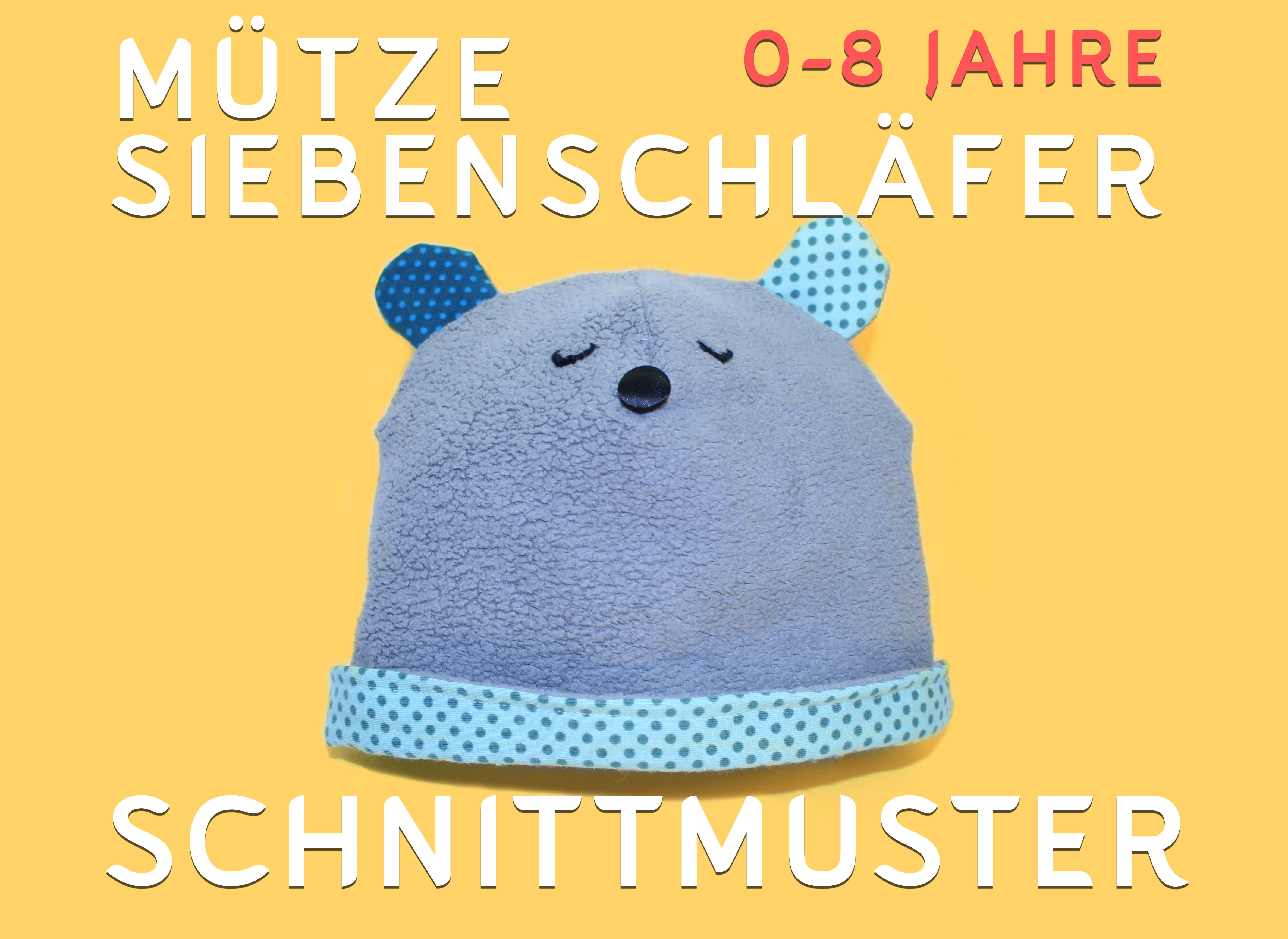 Mütze Siebenschläfer 0-8 Jahre - Schnittmuster - PDF & Papierform ...