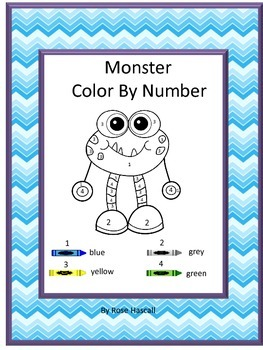 Monsters Theme Color By Number Special Education Math Distance Learning Packets Special Education Math Coloring Pages Special Education