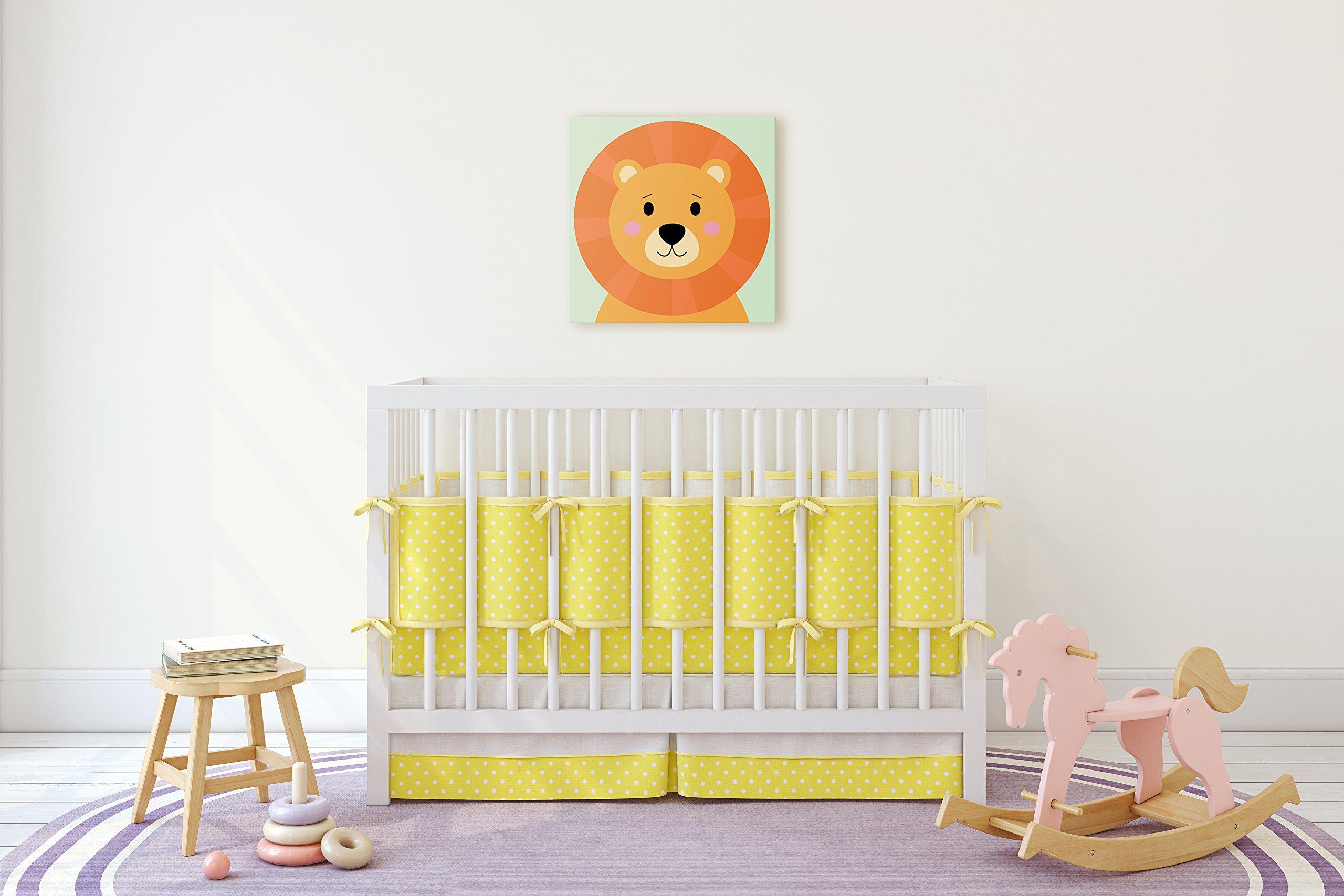 Cute Little Animals Nursery Wall Decor Baby Room Canvas Art 11W x ...