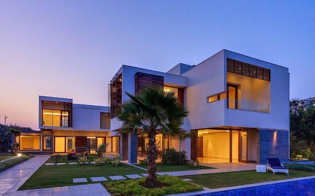 Fotografia de casa muy grande moderna con construcciones p xeles casas - Casas cuadradas modernas ...