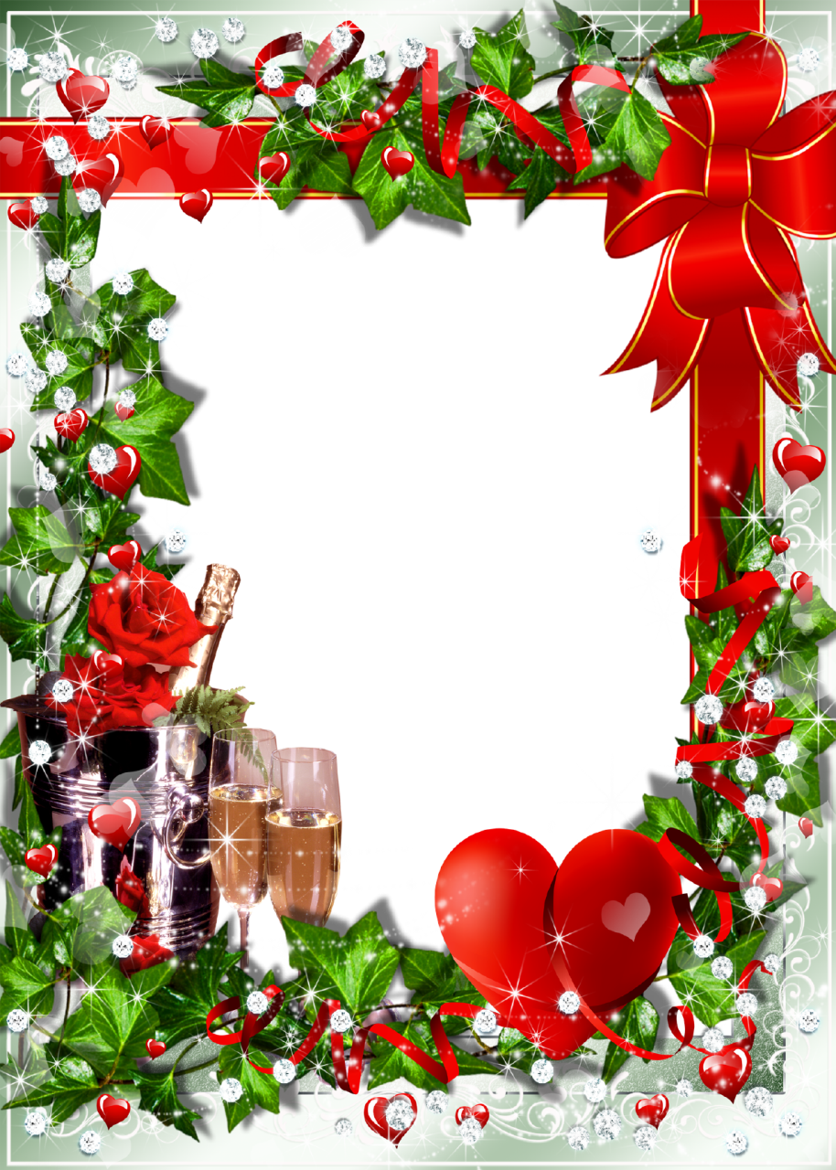 christmas transparent png borders and frames | Romantic Photo Frame ...