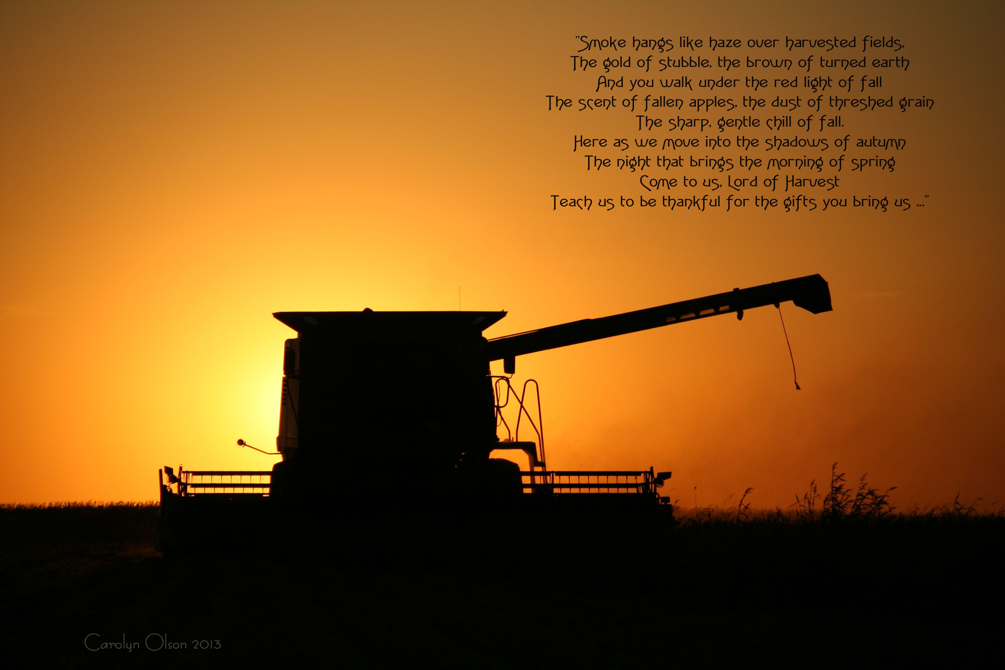 An Old Farmers Advice Poem - Harvest poem
