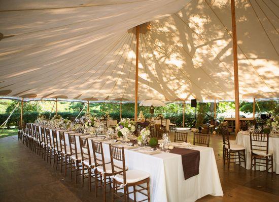 White Bohemian Wedding Tent