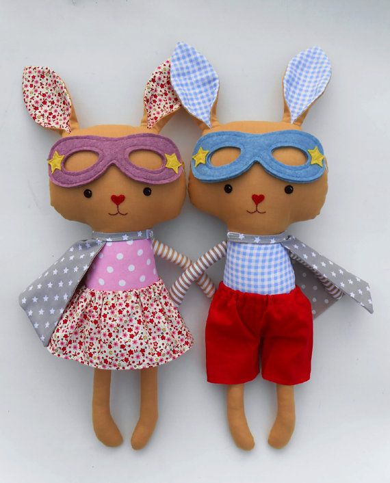 Easter gift for kids easter bunny rabbits toys as by LaLobaStudio