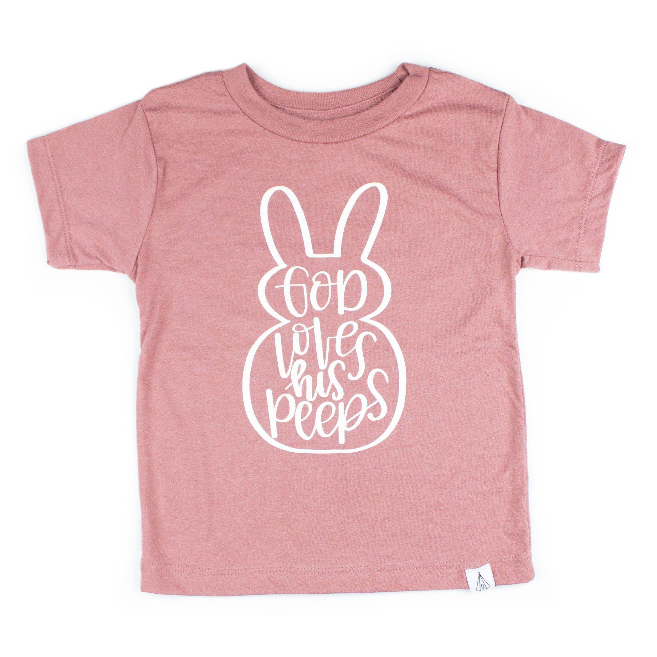 Download God Love His Peeps Easter Shirt   Easter shirt, Easter ...