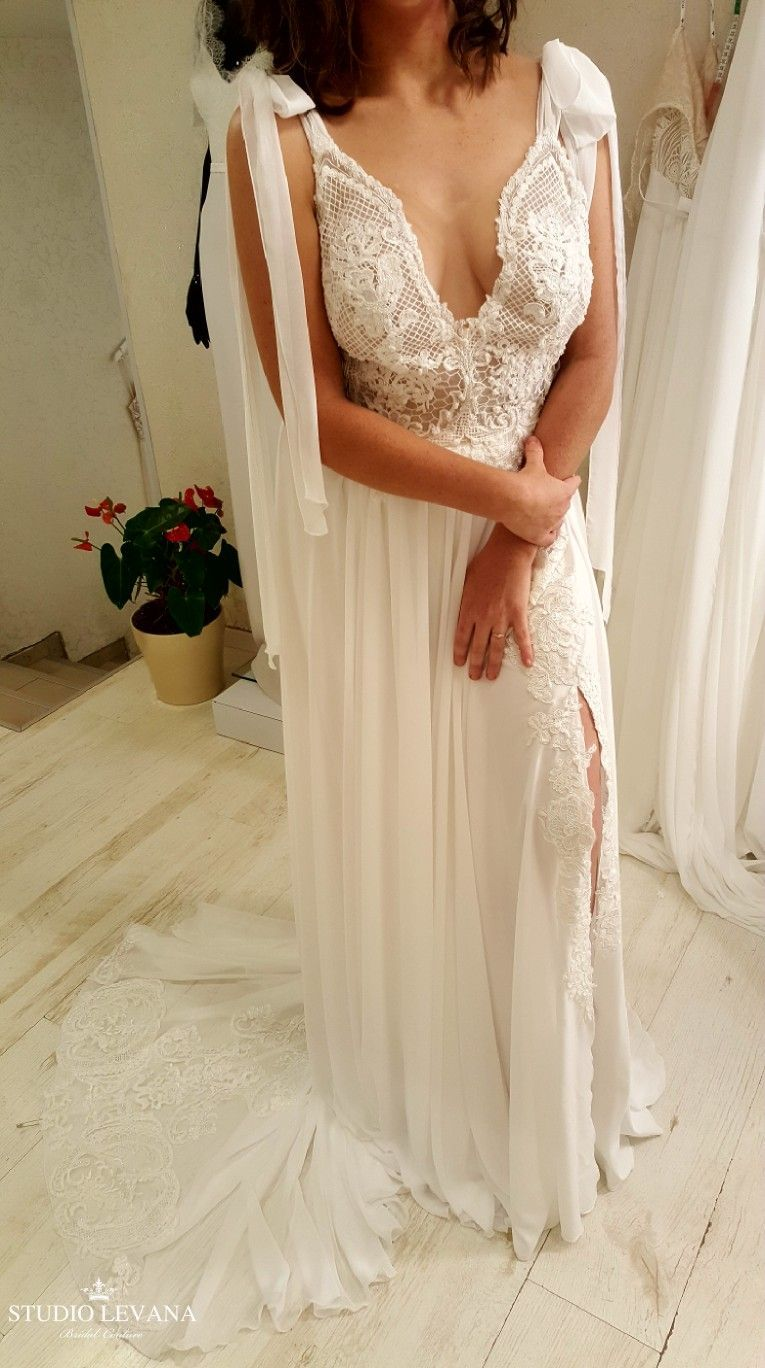 Boho plus size wedding gown from studio levana wedding gowns in