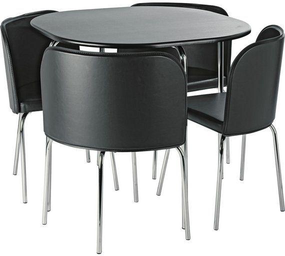 Buy Hygena Amparo Dining Table 4 Chairs Black At Argos Co Uk Visit Argos Co Uk To Shop Online For Di Muebles Para El Hogar Decoracion Mesa Comedor Muebles